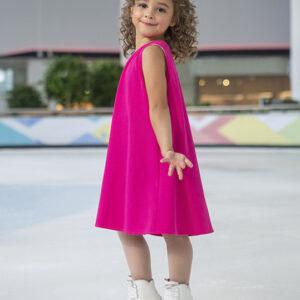 нарядное платье для девочки красное трикотаж сетка блестки