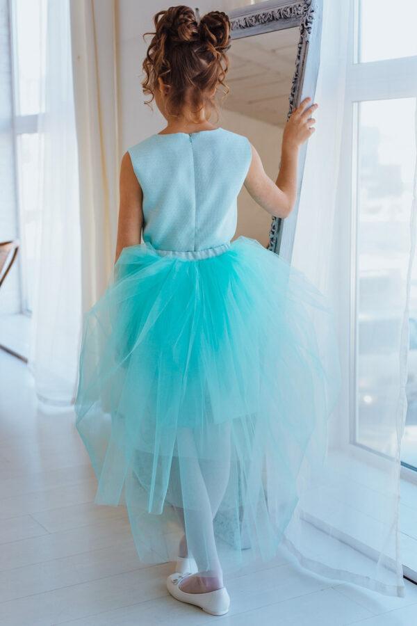 платье-трансформер для девочки подростка коктейльное нарядное мята