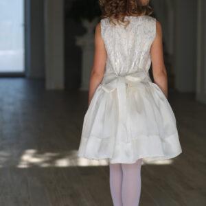 белое нарядное платье с бантом коктейльное для девочки