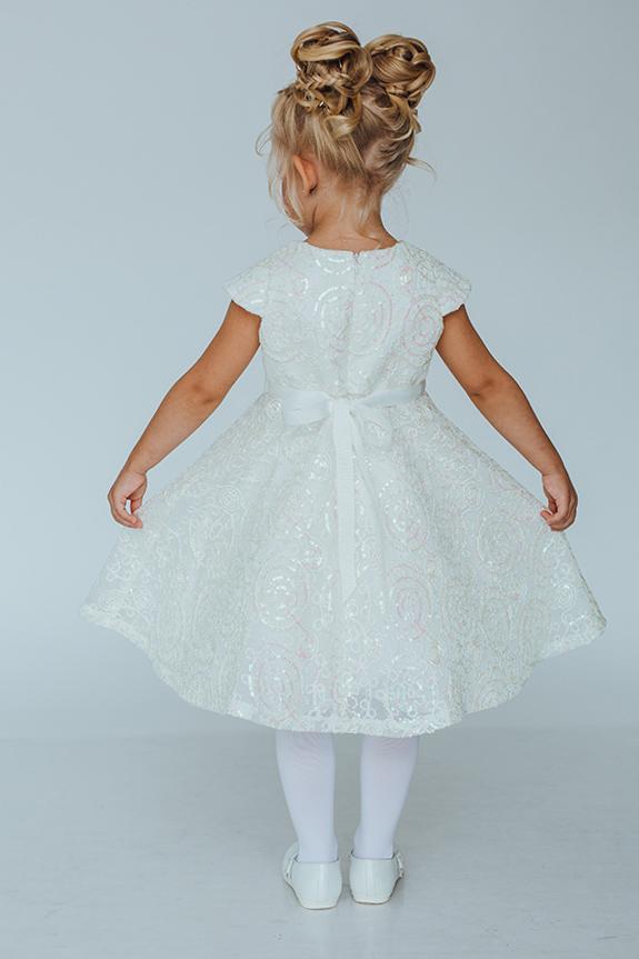 Элегантное платье с пайетками для маленькой девочки Миндальчик