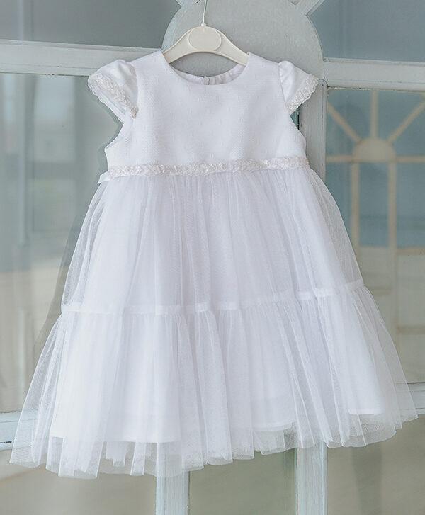 Пышное белое платье для маленькой девочки Ангел