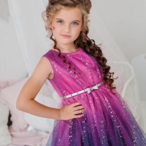 блестящее яркое платье для девочки пышное на Новый год