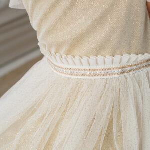 золотое платье для маленькой девочки