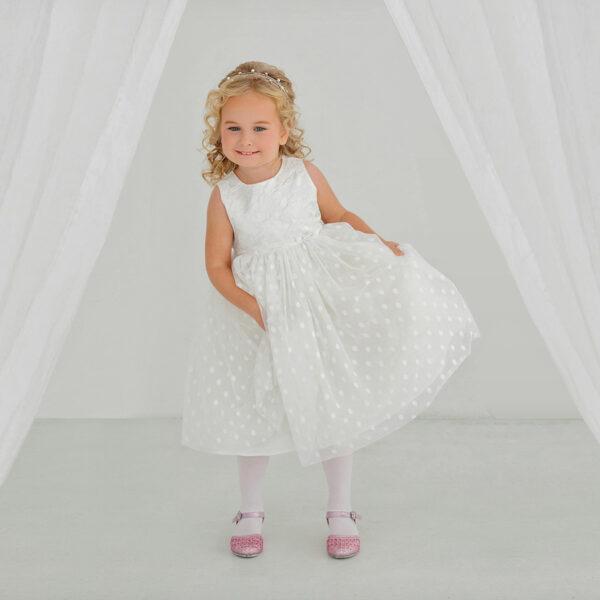 белое платье для малышки пышное
